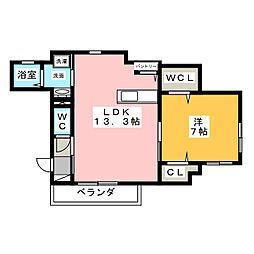 Meieki Hills[2階]の間取り