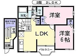 埼玉県新座市片山1丁目の賃貸アパートの間取り