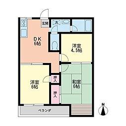 メゾン大和田[201号室]の間取り