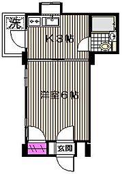 ダル・アビタシオン[2階]の間取り