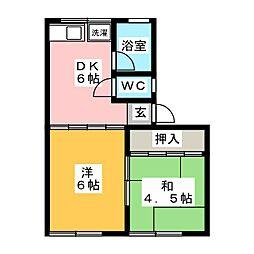 コーポ安藤[2階]の間取り