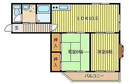 カーサA&K[203号室]の間取り