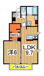 千葉県柏市正連寺の賃貸アパートの間取り