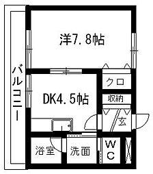 シャンツェ志都呂[1階]の間取り