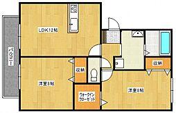 ハウスフリーデII[302号室号室]の間取り
