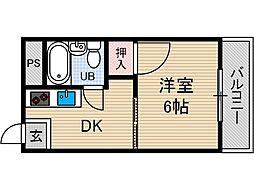 山崎第10マンション[3階]の間取り