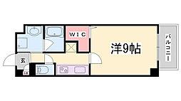 神戸市西神・山手線 新長田駅 徒歩14分の賃貸マンション 2階1Kの間取り