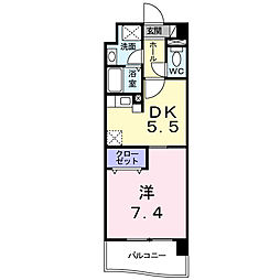 福岡県北九州市小倉北区浅野2丁目の賃貸マンションの間取り