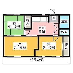 佐奈川荘 C棟[2階]の間取り