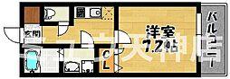 福岡県福岡市中央区長浜2丁目の賃貸マンションの間取り