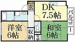 カーサ井ノ口[2階]の間取り