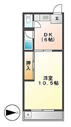 川島第二ビル[3階]の間取り