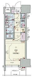 Osaka Metro千日前線 阿波座駅 徒歩1分の賃貸マンション 5階1Kの間取り