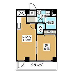 パークビュー栄(PARK VIEW 栄)[6階]の間取り