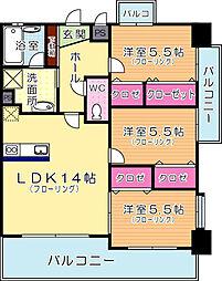 ガーデン・コートSUNATSU[1005号室]の間取り