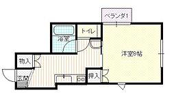島根県松江市上乃木2丁目の賃貸アパートの間取り