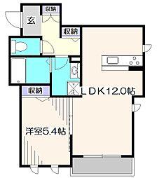 東京都小平市小川町2丁目の賃貸アパートの間取り