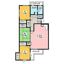 愛知県名古屋市千種区見附町1丁目の賃貸マンションの間取り