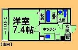 神奈川県相模原市緑区相原2丁目の賃貸マンションの間取り
