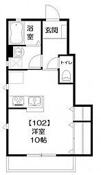 レスポワール[102号室]の間取り