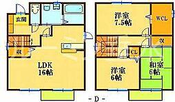 [一戸建] 兵庫県神戸市西区二ツ屋2丁目 の賃貸【兵庫県 / 神戸市西区】の間取り