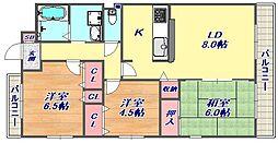 タウンハウス芦屋川[4階]の間取り