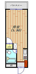 KYビルファンシーマンション[305号室号室]の間取り