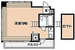 兵庫県芦屋市伊勢町の賃貸マンションの間取り