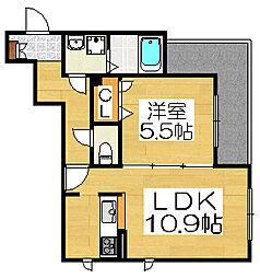 ウインドバリー3番館[2階]の間取り