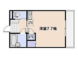 (仮)三宅プレジャーコーポ 1階ワンルームの間取り