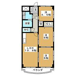 スプリングコート泉崎[2階]の間取り
