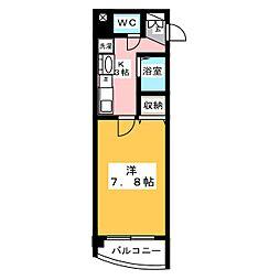 マンションリバーサイド[3階]の間取り