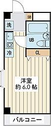 ランディー新浦安 3階ワンルームの間取り