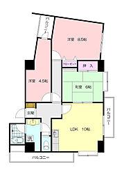 グランボヌール青葉台[5階]の間取り