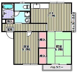 エステートピアウラタ[1階]の間取り
