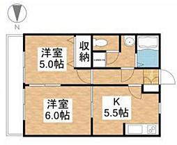 メゾン奥田本町[1階]の間取り