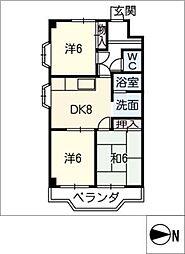 シャインハイツ入場[4階]の間取り