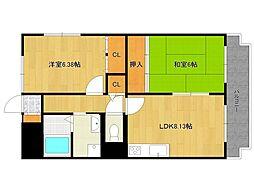 ホワイトボックスパート2[2階]の間取り