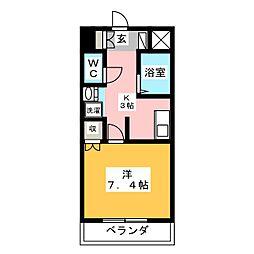 Cozy Court 下池川[4階]の間取り