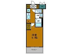 JR大阪環状線 弁天町駅 徒歩9分の賃貸マンション 7階1Kの間取り