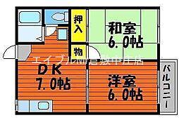 コスモコーポ A棟[2階]の間取り