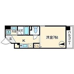 キャピトル日本橋[6階]の間取り
