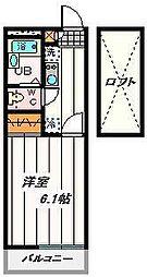 JR京浜東北・根岸線 大宮駅 バス16分 南中野停下車 徒歩6分の賃貸マンション 3階1Kの間取り