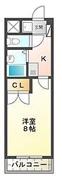 愛知県名古屋市名東区極楽3丁目の賃貸マンションの間取り
