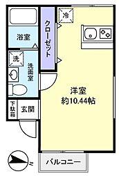 グランニールwest勝田台[2階]の間取り