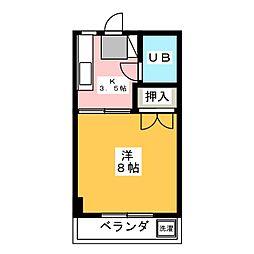 コーポダイマツ[3階]の間取り