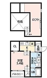 アリエッタ吉塚[2階]の間取り