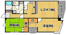 兵庫県明石市相生町2丁目の賃貸マンションの間取り