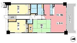 ロイヤルヴィーゼ南新在家[5階]の間取り