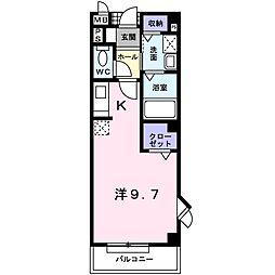 リフレ東百舌鳥B[2階]の間取り